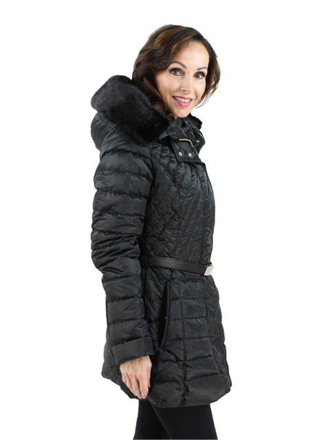 Gorski Woman's  Black Quilted Apres-Ski Parka