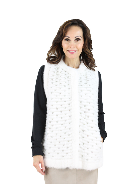 Gorski Woman's White Mink Fur Vest