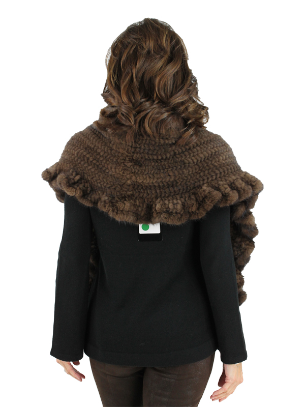 Gorski Woman's Scanbrown Mink Knit Fur Stole