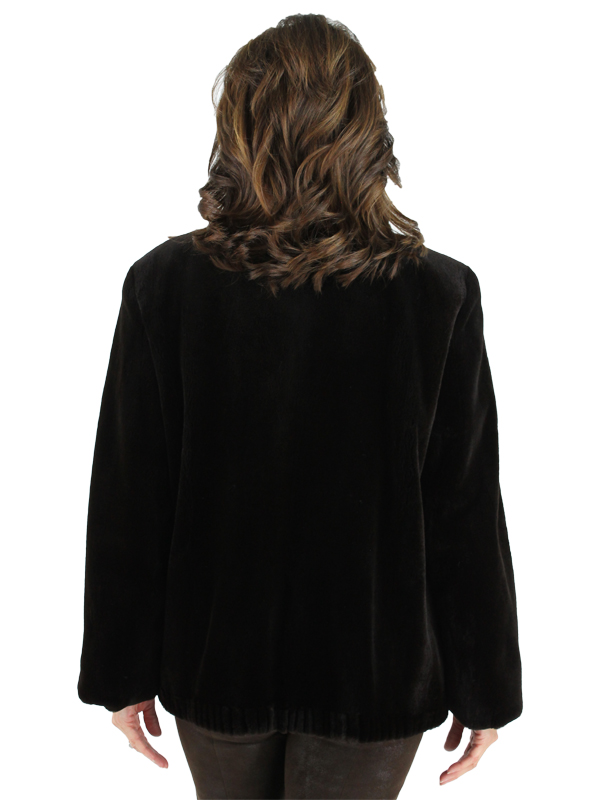 Woman's Brown Sheared Mink Fur Jacket