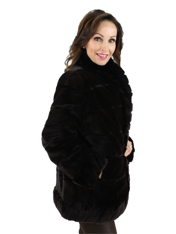 Woman's Brown Sheared Mink Fur Jacket