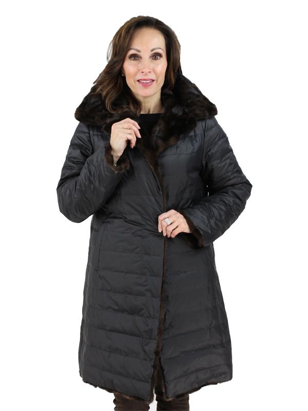 Gorski Woman's Mahogany Mink Fur Stroller