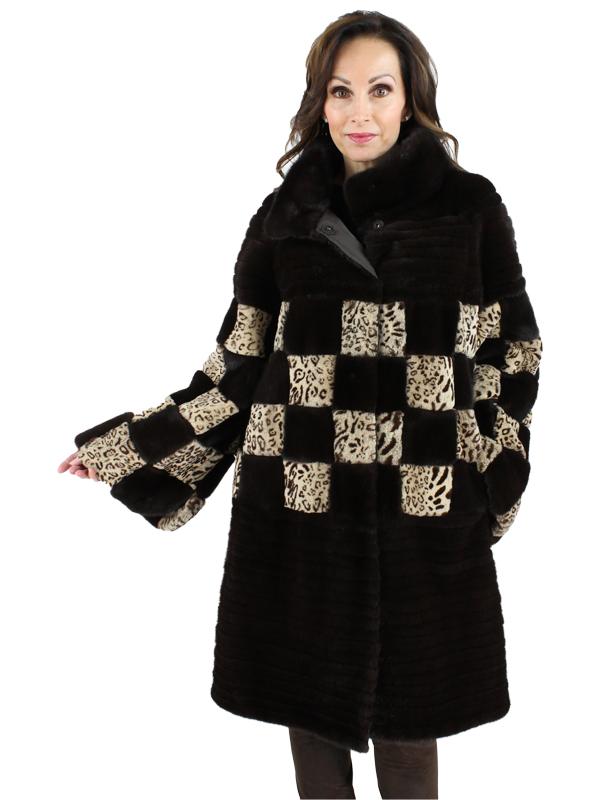 Gorski Woman's Scanglow Mahogany Mink Fur Stroller