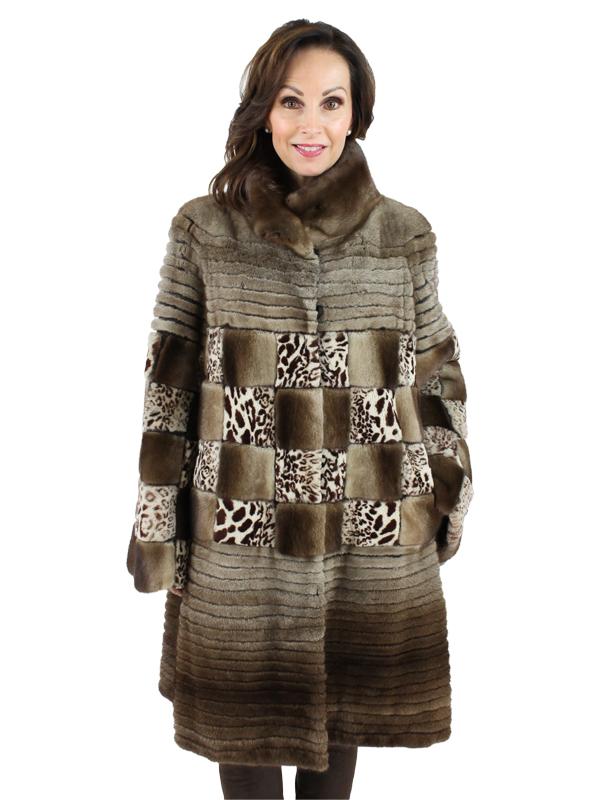 Gorski Woman's Light Coffee Mink Fur Stroller
