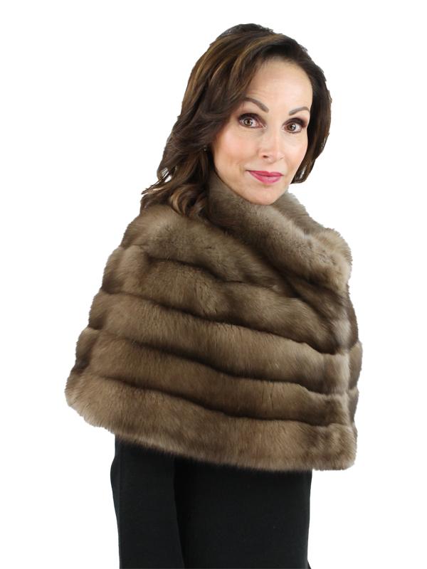 Gorski Woman's Tortora Russian Sable Fur Cape