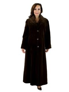 Woman's Russet Brown Sheared Mink Fur Coat
