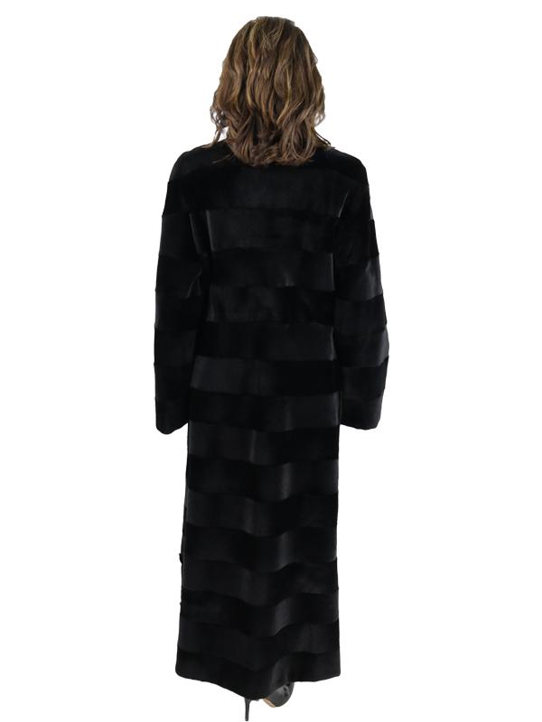 Gorski Black Sheared Mink Coat Reversible to Rain Taffeta