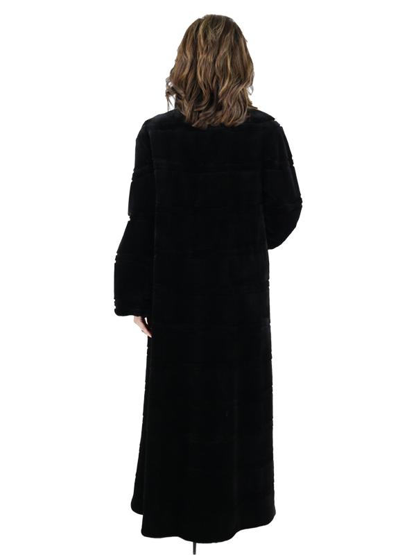 Gorski Black Sheared Mink Coat