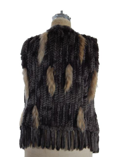 Rabbit Fur Knit Vest