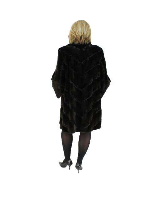 Sheared Mink Fur Stroller w/ Karakul Trim