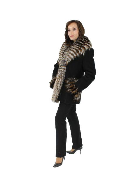 Shearling Stroller w/ Fox Fur Trim