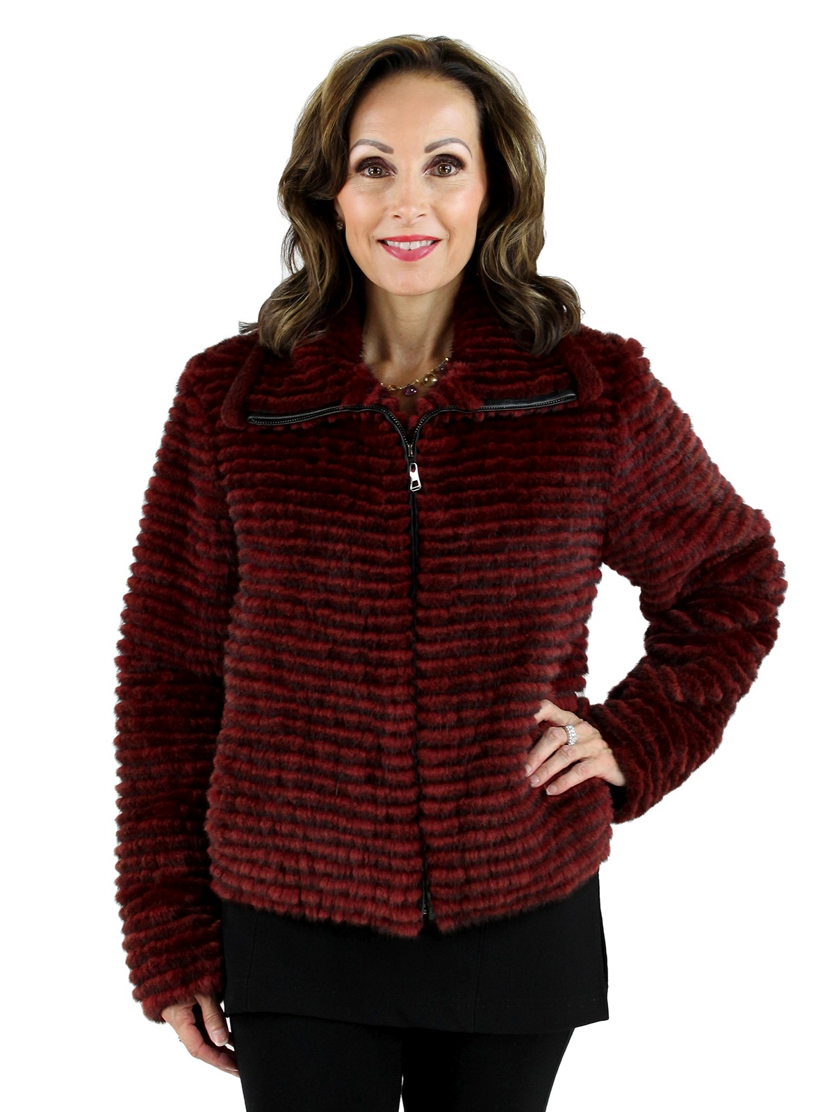 Red Mink Jacket