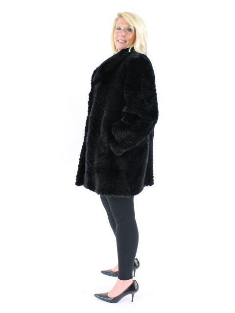 Not the Mama's Wonderful Wear Everywhere Plus Size Black Lazer Cut Mink Stroller