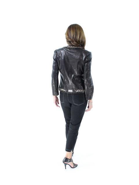 Leather Jacket w/ Chains