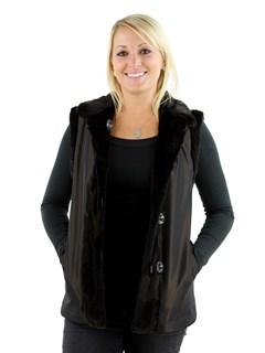Woman's Brown Sheared Mink Fur Vest