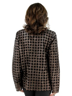Bronze Leather Mesh Jacket