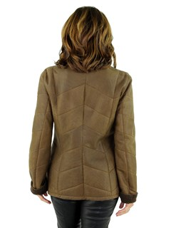 Woman's Tobacco Shearling Lamb Jacket