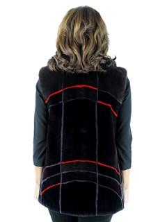 Woman's Multi-Color Sheared Beaver Fur Vest