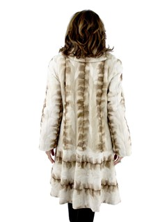Woman's Iceberg Sculptured Semi-Sheared Mink Fur Coat