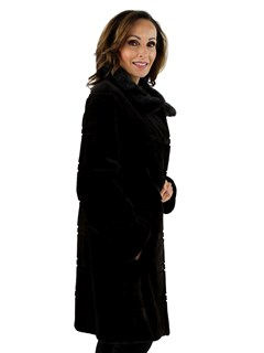 Gorski Woman's Mahogany Sheared Mink Fur Stroller