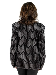 Brown Python Leather Mesh Jacket