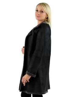 Woman's Grey Astra Shearling Lamb Reversible Stroller