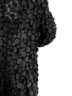 Black Leather Mesh Stroller