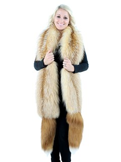 Gorski Bleached Crystal Fox Fur Boa