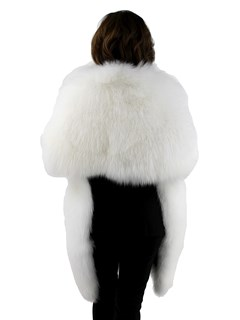 Gorski Woman's White Shadow Fox Fur Stole