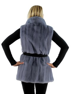 Gorski Woman's Powder Mink Fur Vest