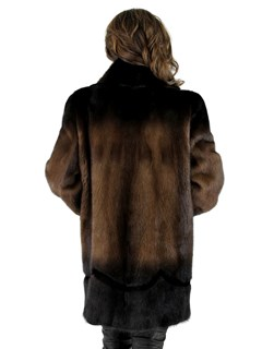 Woman's Brown Degrade Mink Fur Stroller