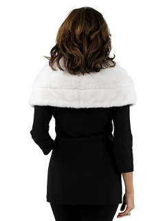 Gorski Woman's White Mink Fur Stole