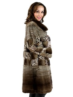 Gorski Woman's Light Coffee Mink Fur Stroller