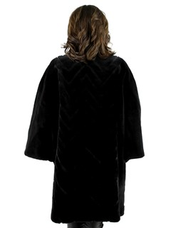 Black Mink Sheared Mink Short Coat