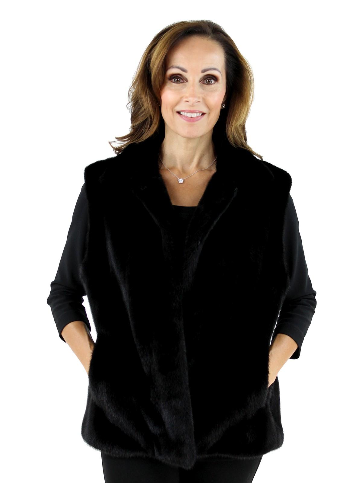 Woman's Black Mink Fur Vest