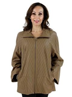 Woman's Cognac Leather Jacket