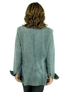 Woman's Atlantic Grey Leather Jacket
