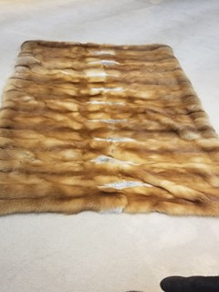 Natural Red Fox Fur Blanket