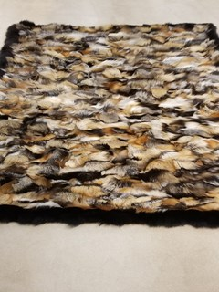 Natural Cross Fox Fur Blanket