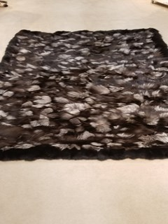 Natural Silver Fox Fur Blanket