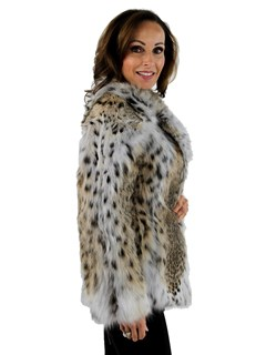 Woman's Natural Lynx Fur Jacket