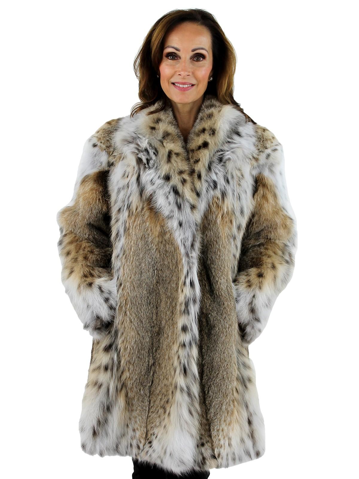 Woman's Natural Lynx Fur Stroller