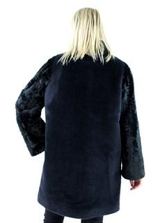 Woman's Black Alpaca Fur and Tianjin Lamb Stroller