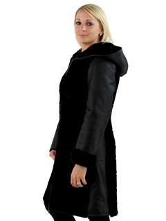 Woman's Black Merino Shearling Lamb Stroller