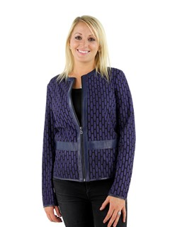 Woman's Purple Light Weight Fabric Jacket