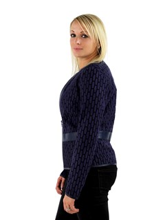 Woman's Purple Light Weight Fabric Jacket