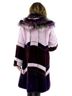 Woman's Multi-color Sheared Beaver Fur Stroller