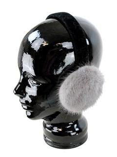 Woman's Grey Mink Fur Earmuffs