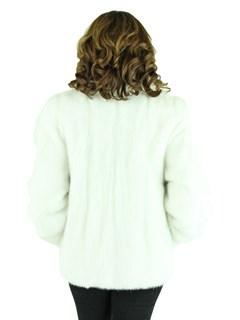 Woman's Bleached White Mink Fur Jacket
