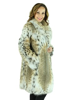 Woman's Natural Lynx Fur Stroller